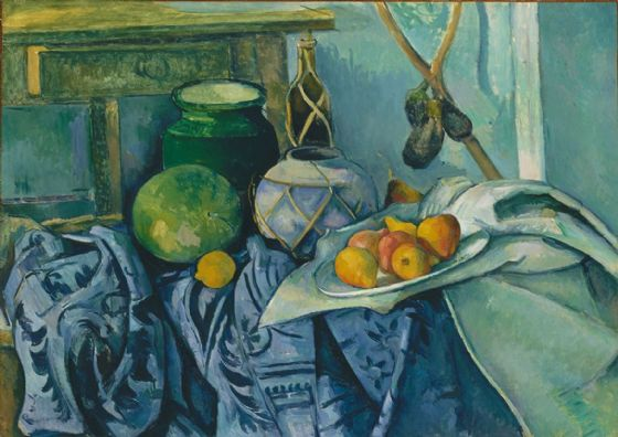 Cezanne, Paul: Still Life with a Ginger Jar and Eggplants. Fine Art Print/Poster. Sizes: A4/A3/A2/A1 (004218)